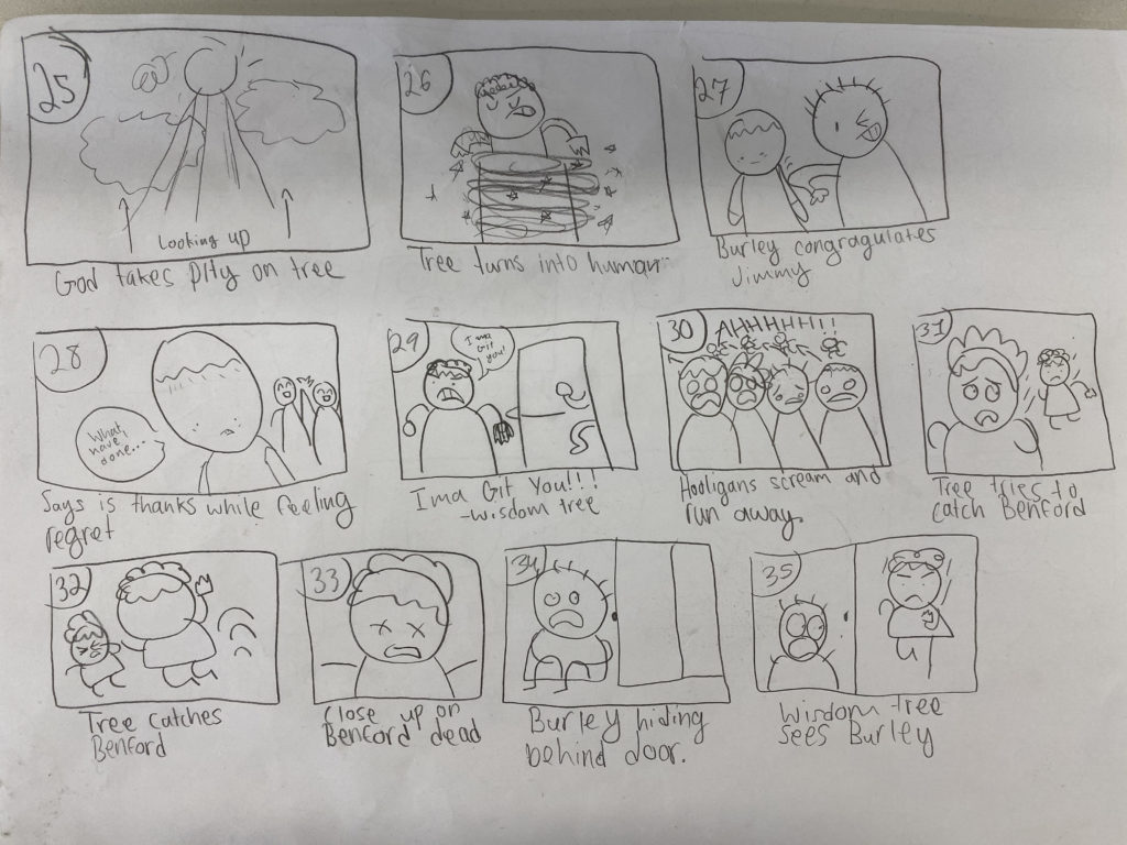 Storyboard for The Wisdom Tree